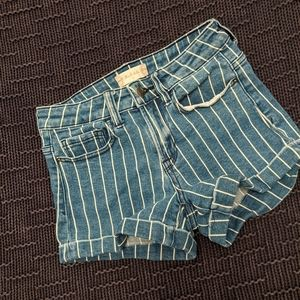 Altar'd State pinstripe shorts